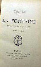 LA FONTAINE/CONTES/ED JOUAUST/VERS 1920/DEUX VOLUMES