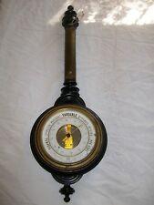 ancien thermomètre baromètre réaumur époque napoléon III bois noirci a restaurer