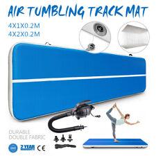 13Ft Airtrack Air Track Floor Inflatable Gymnastics Tumbling Mat Gym w/ Pump Pvc