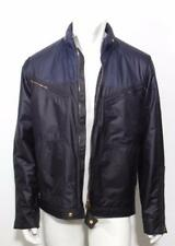 LOUIS VUITTON Mens Navy Lightweight Gold Zipper LV Windbreaker Jacket Coat 42-52