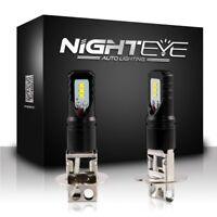Nighteye H3 160W LED Fog Light Bulbs Car Driving Lamp DRL 6500K White High Power