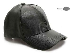 David & Young New York Women's Baseball Cap Hats Leather Adjustable Cap