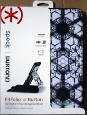 Speck Burton Fitfolio Case Cover/Stand for iPad 2/3/4 -SPK-A1753 (Black & White)
