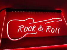 Rock and Roll Guitar Music Led Neon Light Sign Bar Pub Decor Club Home Beer Lamp