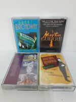 Vintage Retro Broadway Musicals Music Cassettes Tapes Bundle x 4 Guerre