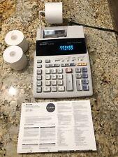 Sharp Electric Calculator El-1801Piii Printer Adding Machine w/Manual & Paper