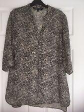 SPORTSCRAFT, WOMENS, Polyester Workwear Top, Black/Cream Paisley Size 12, #607