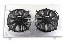 Aluminum Radiator Fan Shroud 88 99 Chevy Truck C1500 C2500 28 Core With 12 Fans