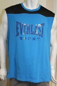 Everlast Sport blue sleeveless t shirt boxing wear size XL