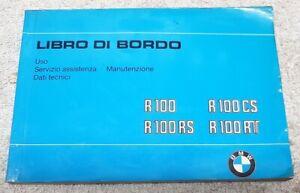 BMW R 100 RS/ RT/CS LIBRO DI BORDO