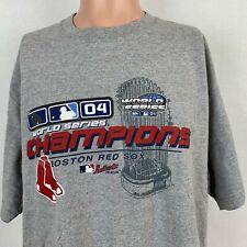 d400a9bf Boston Red Sox 2004 World Series Champions T-Shirt Vtg MLB Baseball Size XL