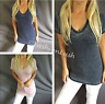V-Neck Plunge Burnout Grunge Longline Tunic Soft Short Sleeve Tee T-Shirt Top