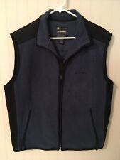 American Eagle Outfitters AE Performance Blue Fleece Vest Men's Large Full Zip
