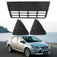 Front Bumper lower Grill & Tringle Grilles Kit for Ford Focus 2012 2013 2014