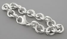 """AUTHENTIC TIFFANY & Co. STERLING SILVER CHARM BRACELET 7.25"""""""
