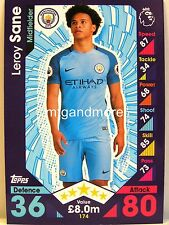 Match Attax 2016/17 Premier League - #174 Leroy Sane - Manchester City
