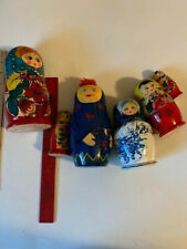 Lot of Nesting Dolls Hand Painted Russian some Folk Art variety