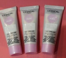 X3 Loreal Glam Nude CC Cream  SPF 20 Anti Dullness  5 in 1  NEW  mini size