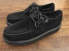 TUK Platform Shoes Mondo Hi Sole Creepers Black Suede Leather Mens US 8