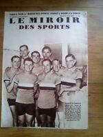Le miroir DES SPORTS N°713 JUIN 1933 EQUIPE DE FRANCE CYCLISME