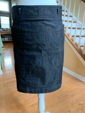 Kenneth Cole Reaction skirt blk denim jean stretch pencil straight Size 2