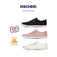 Skechers Bobs B Cute Canvas Memory Foam Women Casual Slip On Shoes Pick 1