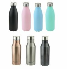 STAINLESS STEEL WATER BOTTLE VACUUM FLASK THERMOS WITH AIR TIGHT LID NEW