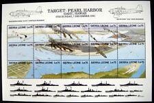 SIERRA LEONE WWII STAMPS SHEET PEARL HARBOR 1991 MNH WORLD WAR II OAHU HAWAII