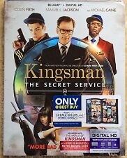 Kingsman: Secret Service Blu-ray  w/ exclusive COMIC BOOK *NO DIGITAL COPY*