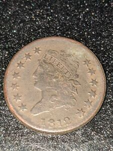 1812 Classic Head Large Cent, Excellent Example of this Rare Coin, XF+