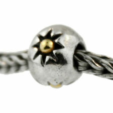 Authentic Trollbeads Silver & 18k Gold 41806 Three Stars *0
