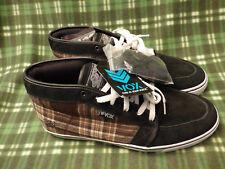 "NWT Vox Skate Shoes ""Vato"" Brown & Black Plaid High Top - Men's Size 14"