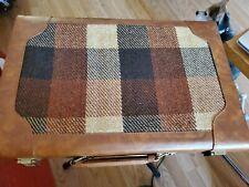 "Vintage BACKGAMMON Travel Game Set 15"" x 10"" Brown Faux Leather Folding Case"