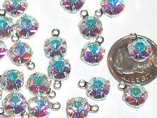 5pc Lote Swarovski Xilion Cristal Arco Iris Aro Enganche Colgante Charm 35ss 8mm