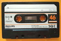 MC Musicassetta PHILIPS SQ-I 46 vintage compact cassette tape USATA no agfa basf