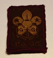 Vintage Girl Guides badge with indistinct denomination, 5 x 3.5 cms.