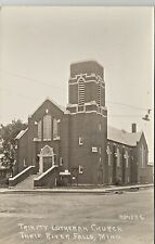 Thief River Falls MN Trinity Lutheran Church Real Photo Postcard 1930s