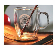 StarBucks Double Wall Clear Glass Coffee Latte Drinking Cup Mugs Cups,375ml