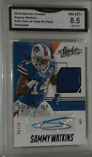 2014 ABSOLUTE FOOTBALL SAMMY WATKINS 6/20 TOOLS OF TRADE RC PATCH AUTOGRAPH 8.5