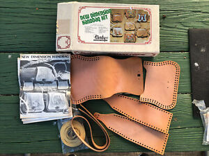 """Vintage Tandy Leather Purse Kit Complete New Dimension #4363 Size 8.5x7x3"""""""
