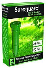 Sureguard SUN & SHADE SNAKE REPELLENT 4Pcs Emit A Pulsing Vibration Into Soil
