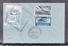C 19 ) tolle Luftpost Italien 1947 Mailand nach Rom