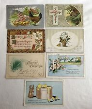 7 Antique Easter Postcards USA c1910-1915 Posted & Unposted Embossed & Printed