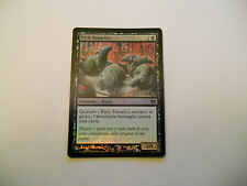1x MTG FOIL Ratti Famelici-Ravenous Rats Magic EDH 9th Ed Base ITA Italiano x1