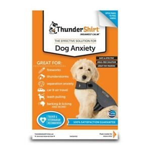 XS ThunderShirt Dog Anxiety Calming Aid Jacket Heather Grey English Dogs New