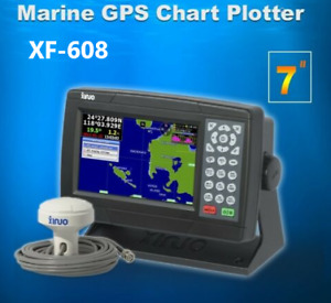 "Marine GPS Chartplotter 7"" UK / Western Europe Charts NMEA0183 IN OUT Interface"