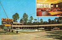 Postcard Miami Motel Restaurant Pearson Georgia