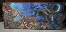 FANTASTIC 1998 MONUMENTAL SIZE ORIGINAL A. TYPNKO RUSSIAN BATIK FABRIC ART PIECE