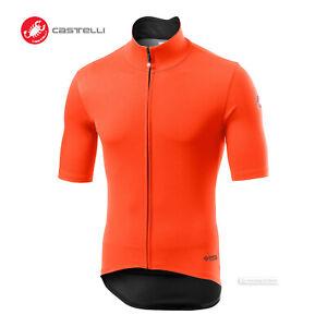 Castelli PERFETTO ROS LIGHT Short Sleeve Wind/Rain Cycling Jersey : ORANGE
