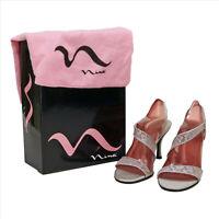 EUC Nina Silver Metallic Evening Shoes With Box US 6.5 M